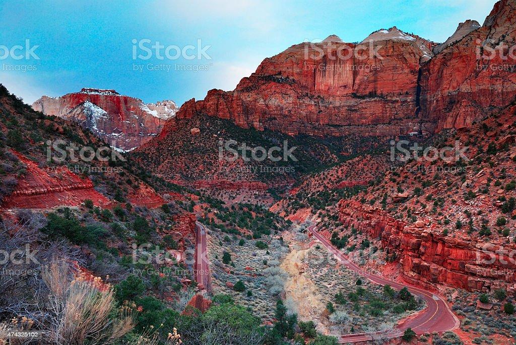 Zion National Park, Utah. stock photo