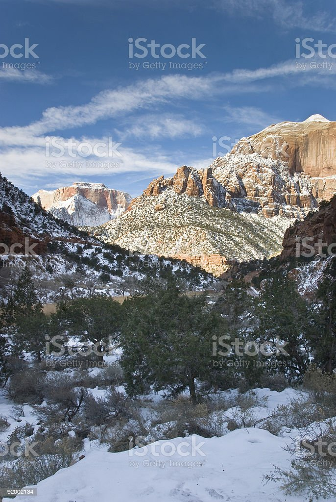 Zion National Park-Cougar Mountain-Utah stock photo