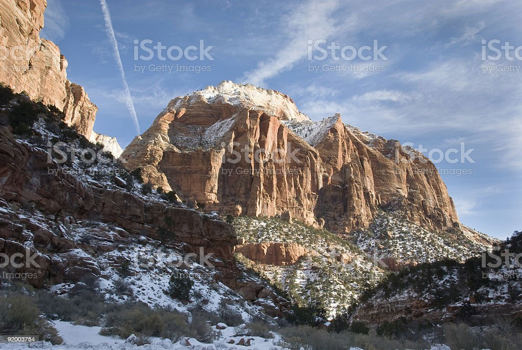 Zion National Park-East Temple stock photo