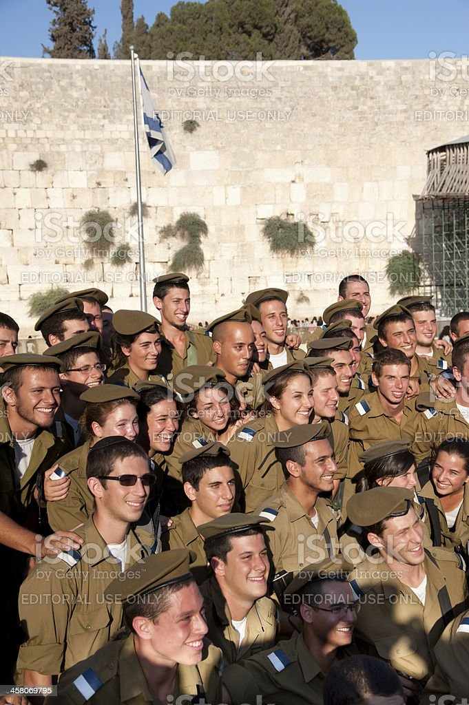 Zionist Jewish Youth Military Camp royalty-free stock photo