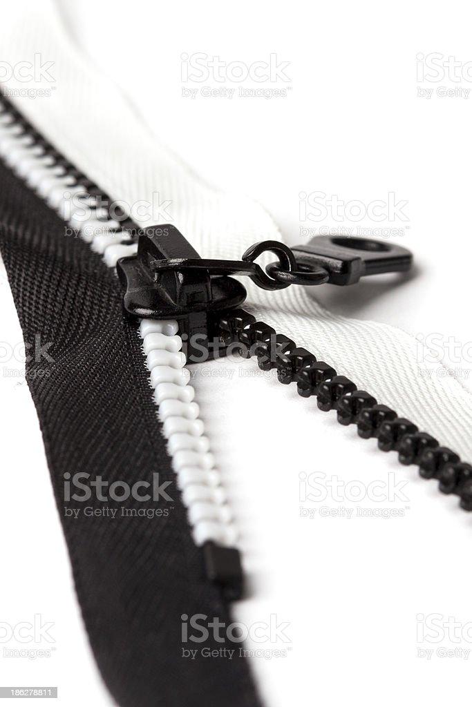 Zip black and white royalty-free stock photo
