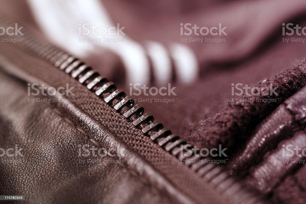 Zip detail royalty-free stock photo