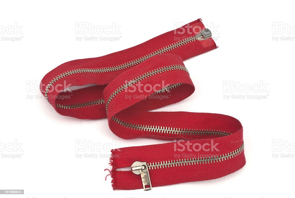 zip fastener stock photo