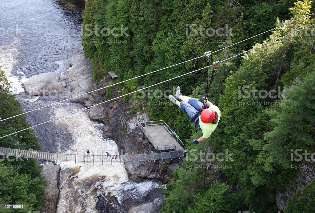 Zip line adventure royalty-free stock photo