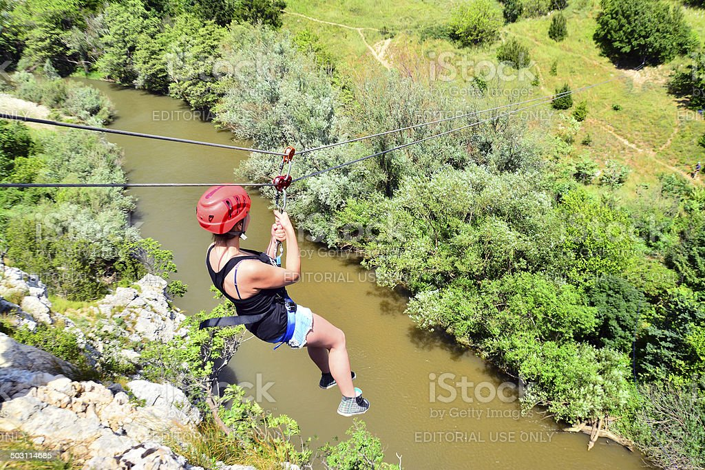 zip line stock photo
