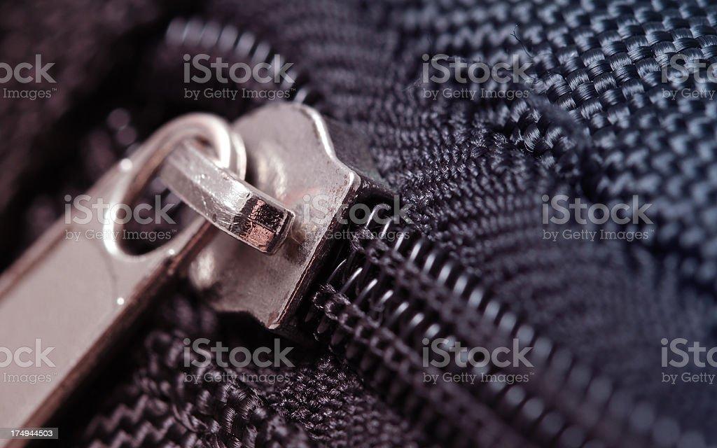 Zip Macro Detail royalty-free stock photo