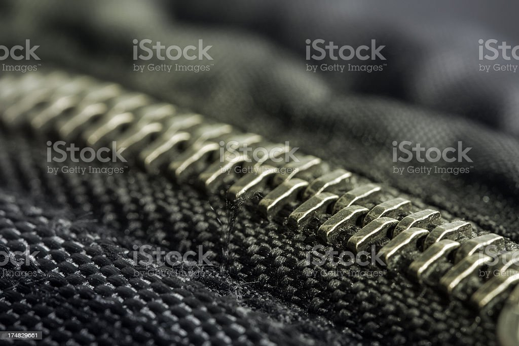 Zip on a sporty jacket royalty-free stock photo