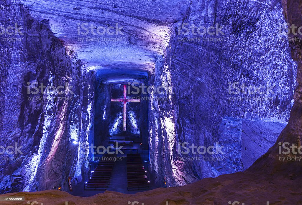 Colombia, South America -The Catedral de Sal, Zipaquirá stock photo
