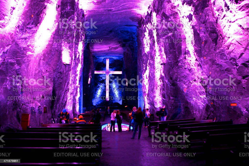 Colombia, South America - The new Catedral de Sal, Zipaquirá royalty-free stock photo