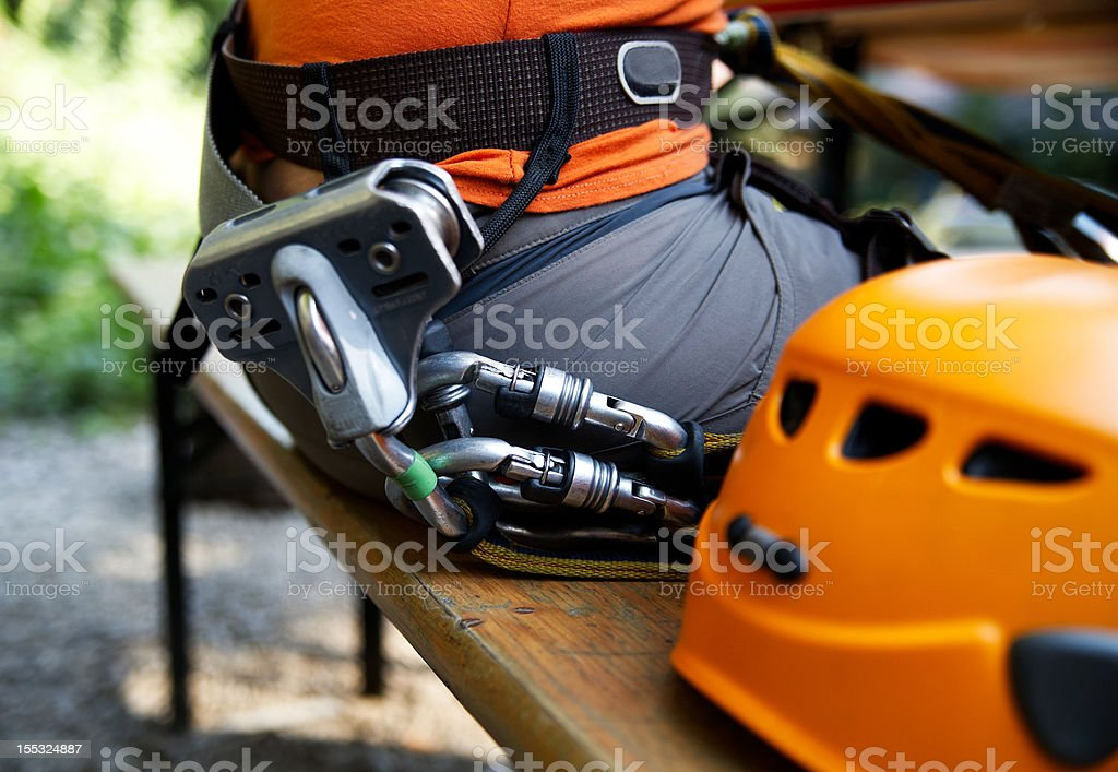 zip-line gear royalty-free stock photo