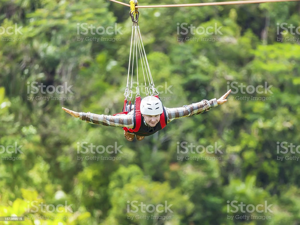 Zip-line stock photo