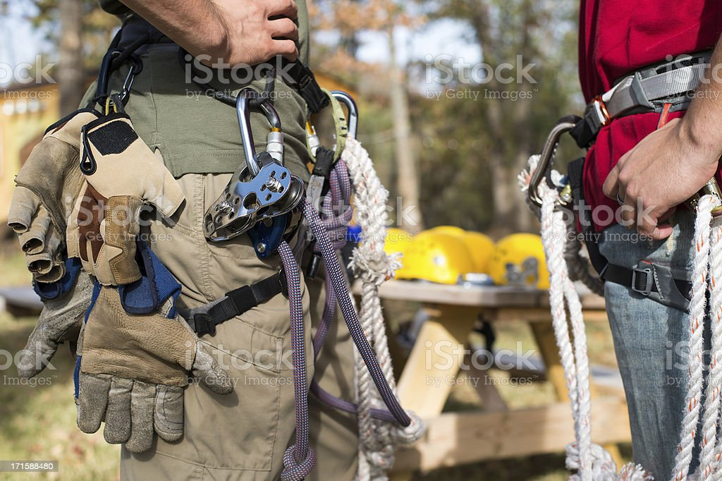 Zipline Pulley and Gear royalty-free stock photo
