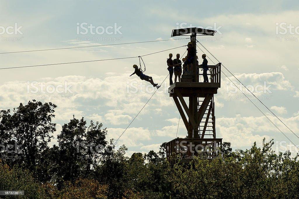 Zipline Tower royalty-free stock photo