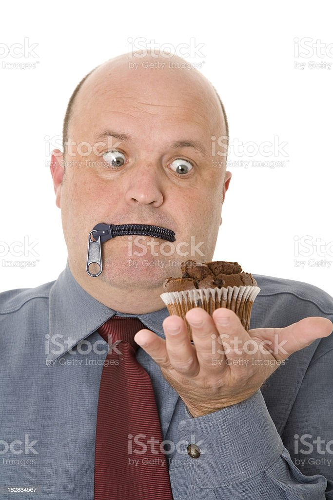 Zipped Lips Dieting stock photo