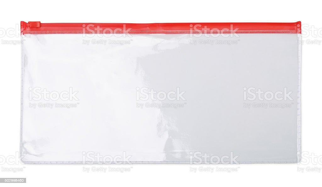 Zipper bag stock photo
