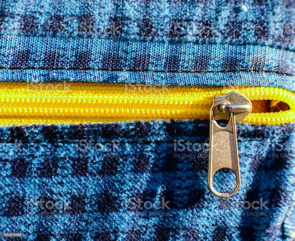 Zipper closeup stock photo