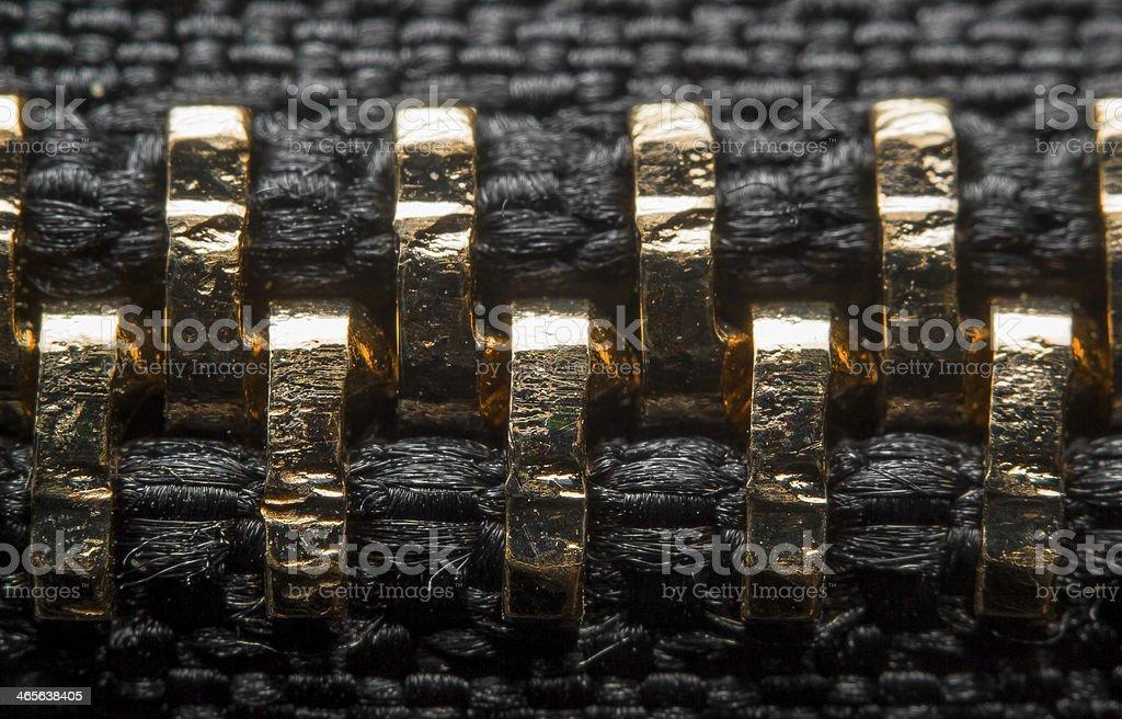 Zipper detail stock photo
