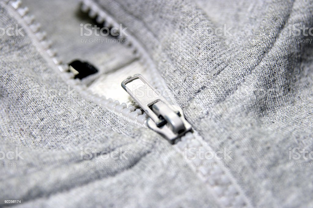 Zipper macro royalty-free stock photo