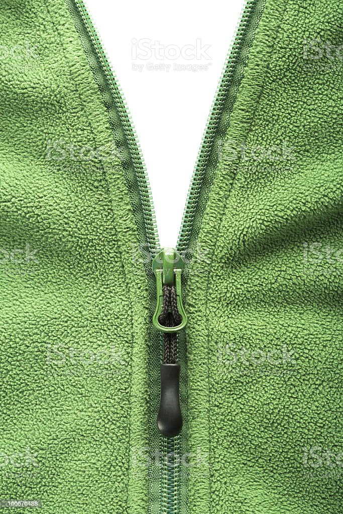 Zipper opening fleece jacket royalty-free stock photo