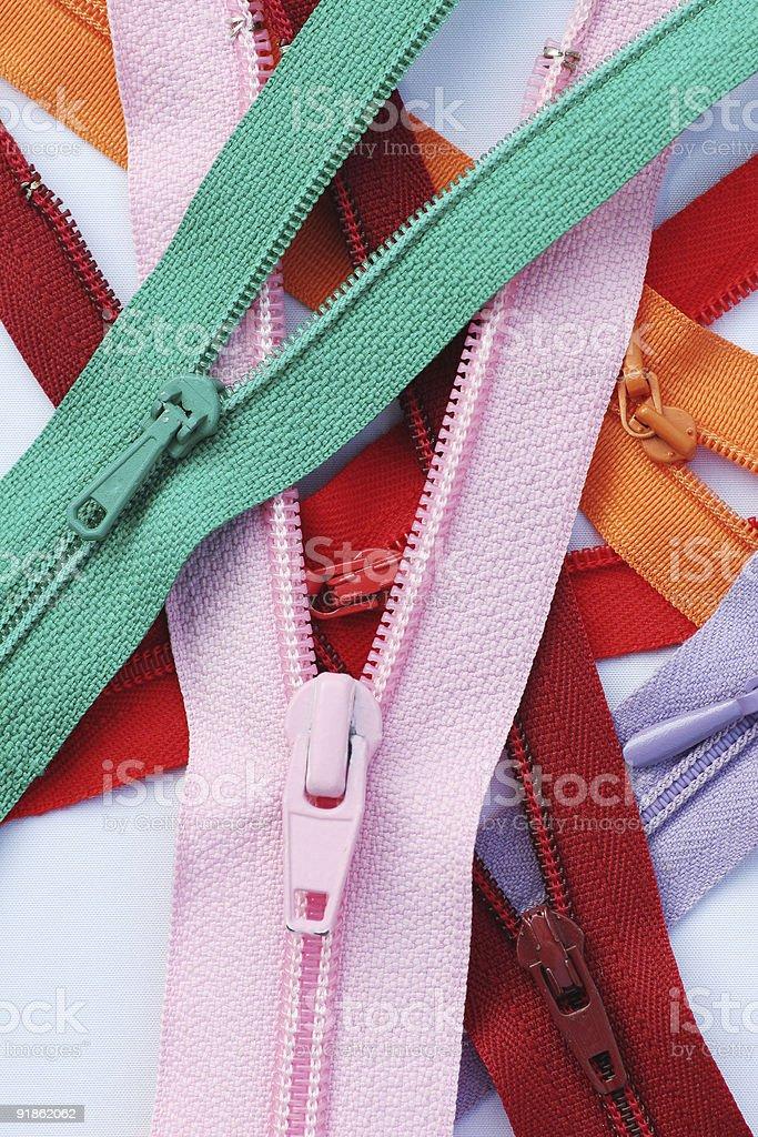 Zipper series 1 - mix 2 royalty-free stock photo