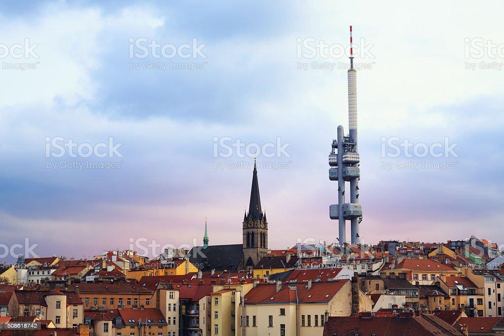 Zizkov in Prague stock photo