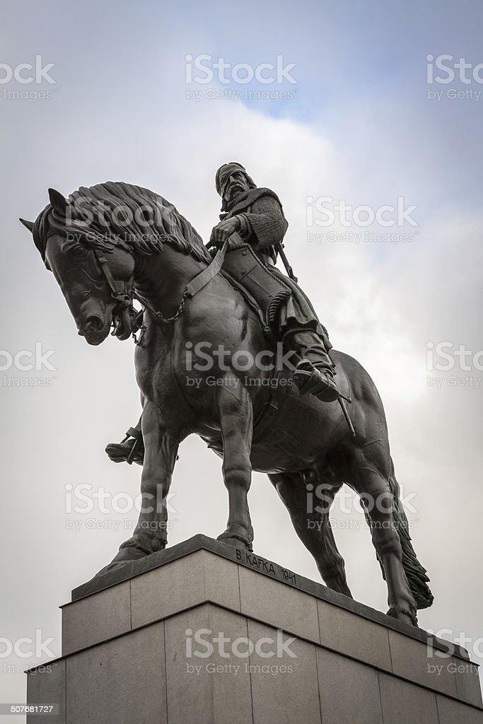 Zizkov Monument in Prague stock photo