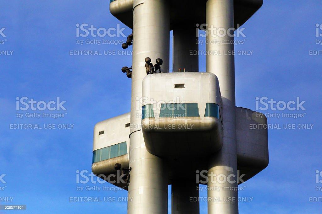 Zizkov TV Tower Prague stock photo