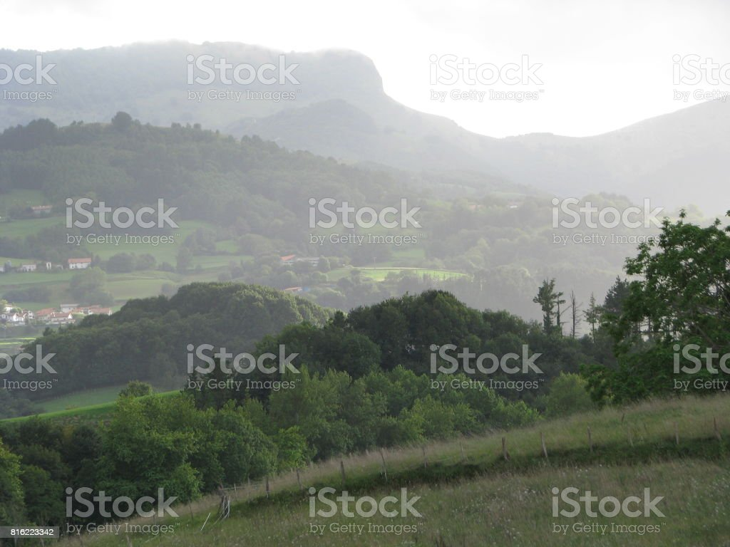 Zizurkill landscape stock photo