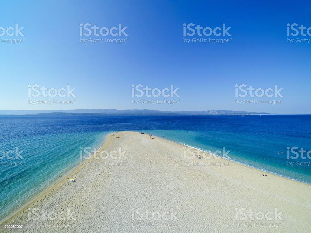 Zlatni rat beach, Bol, Brac island, Dalmatia, Croatia royalty-free stock photo