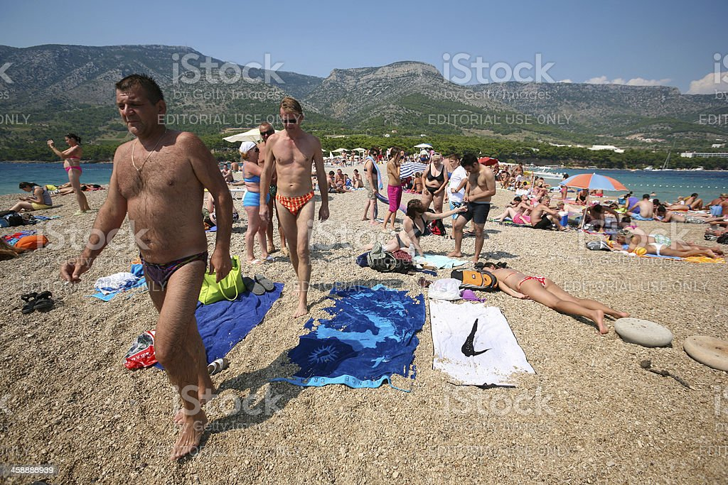 Zlatni Rat in Croatia stock photo