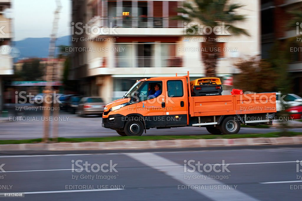 zmir Metropolitan Municipality business tools Iveco stock photo