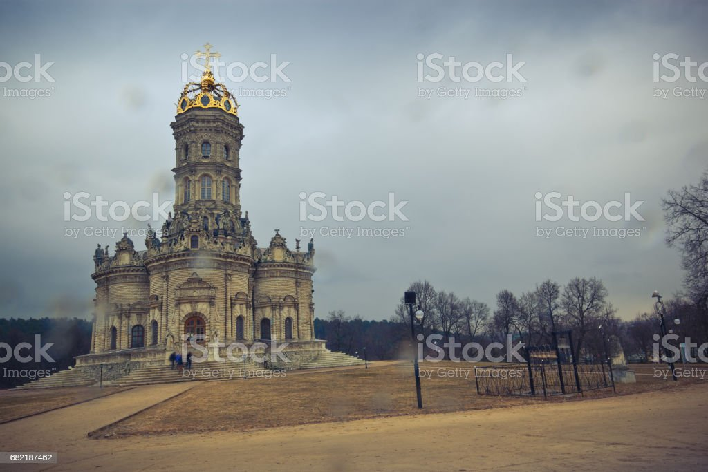 Znamenskaya church in village Dubrovici stock photo