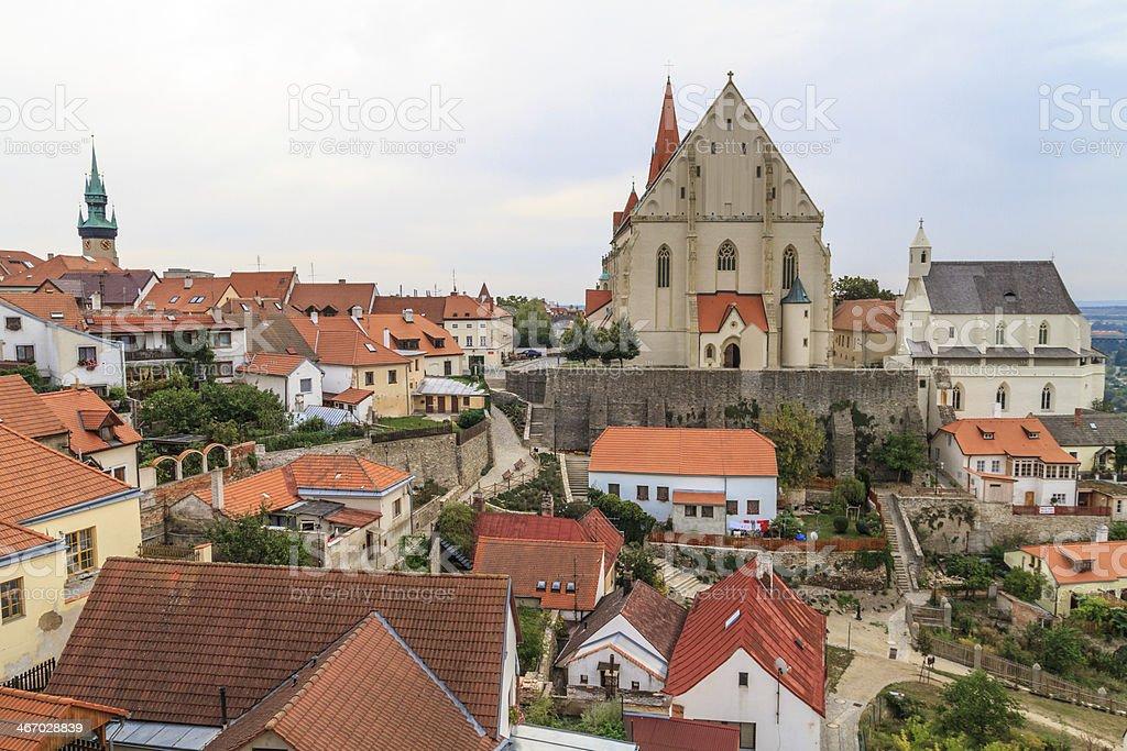 Znojmo, Czech Republic - Church of St. Nicholas and Wencesla stock photo