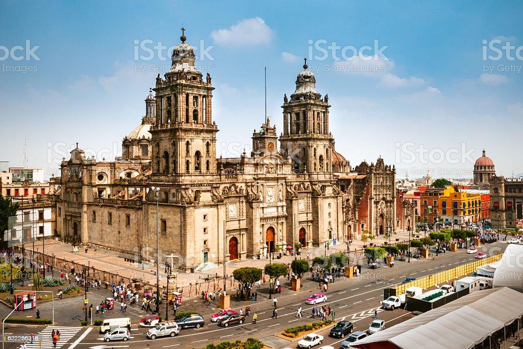Zocalo Square in Mexico City stock photo