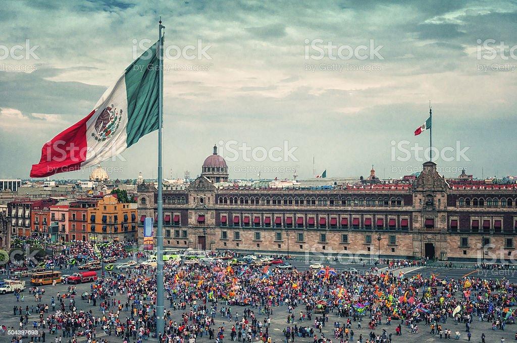 Zocalo Square in Mexico City. Regional2014 stock photo
