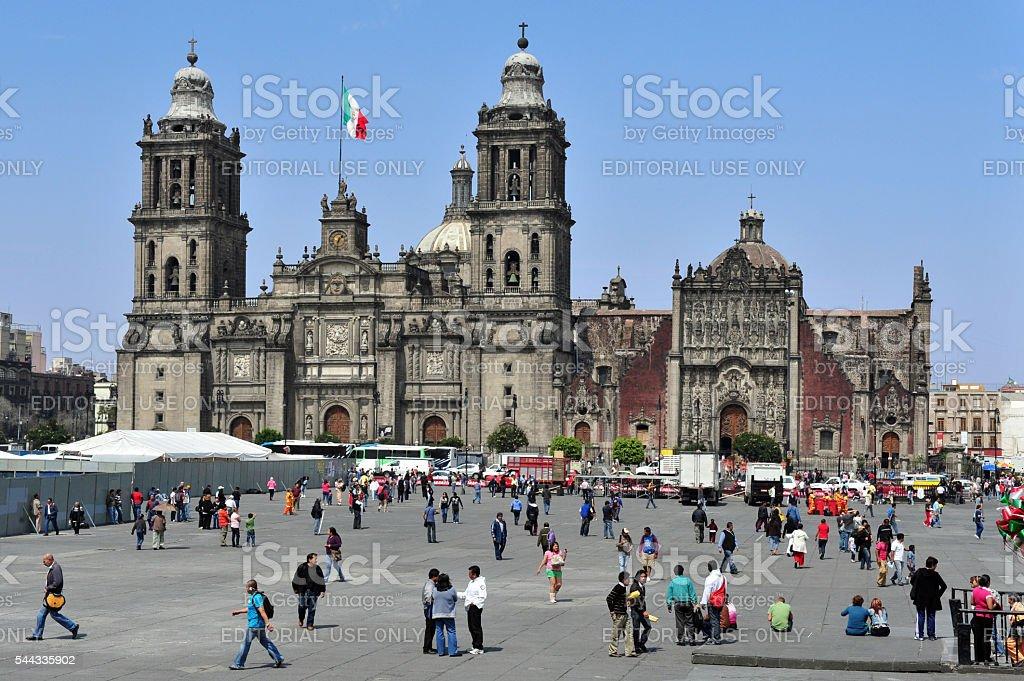 Zocolo in Mexico City stock photo