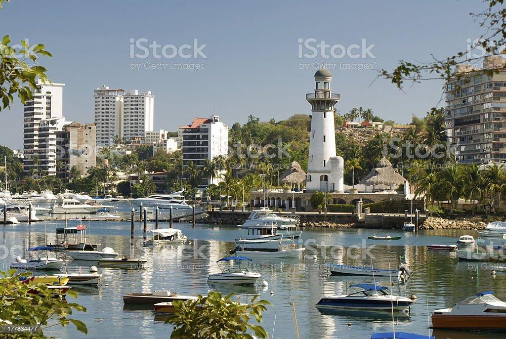 Zocolo Marina area of Acapulco Mexico stock photo