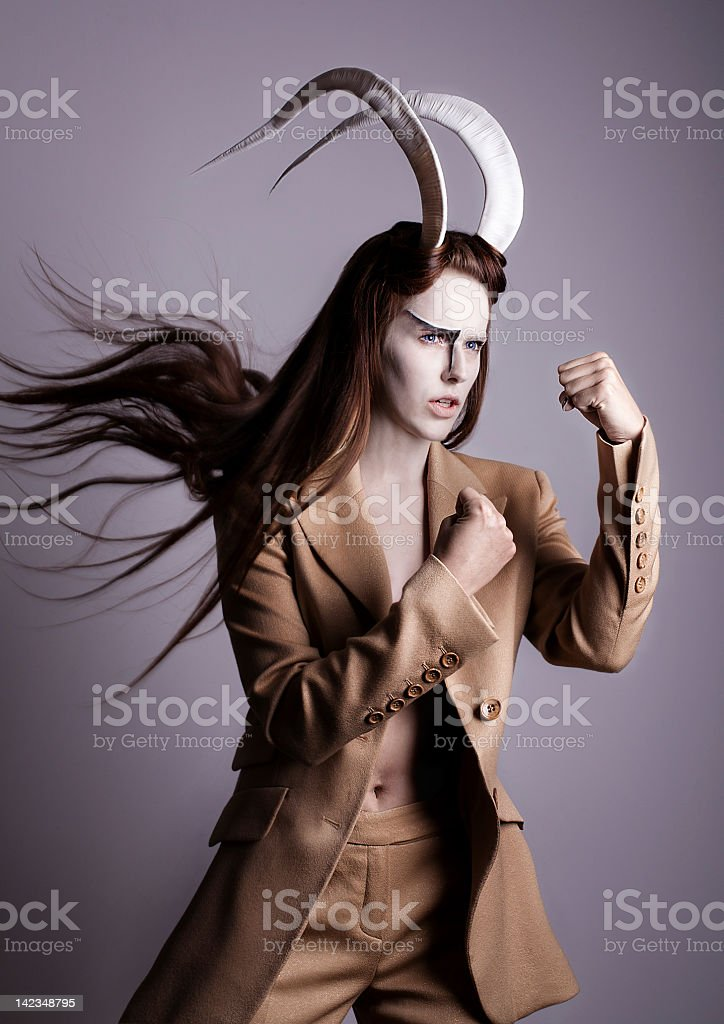 Zodiac - capricorn stock photo