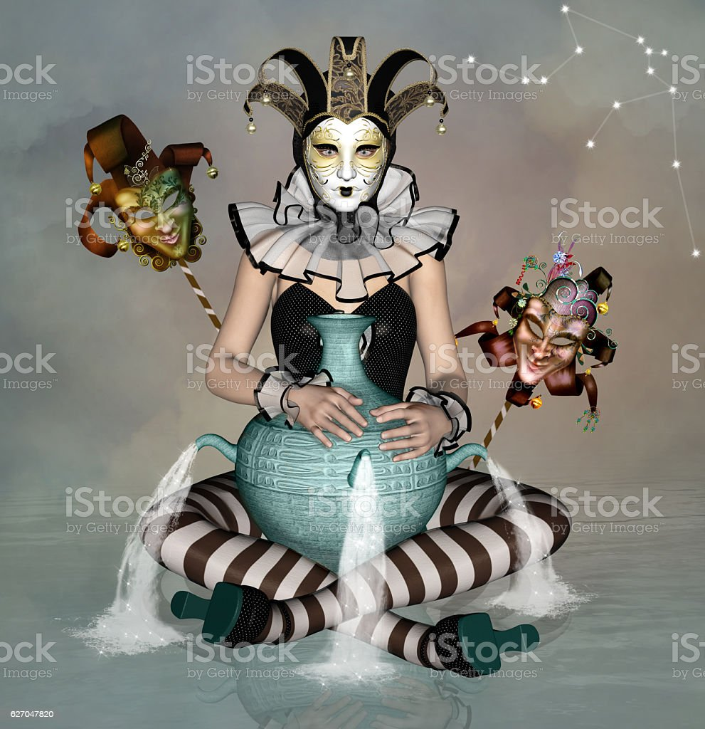 Zodiac series - Aquarius stock photo