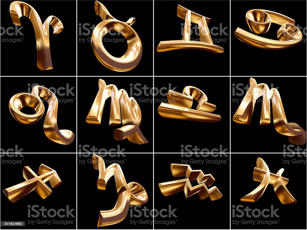 3D Zodiac Sign stock photo