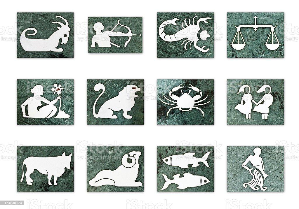 12 Zodiac signs stock photo