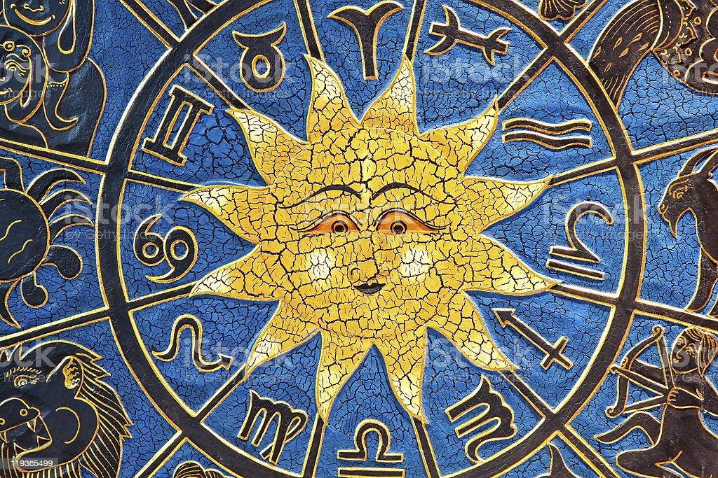 Zodiac sun stock photo