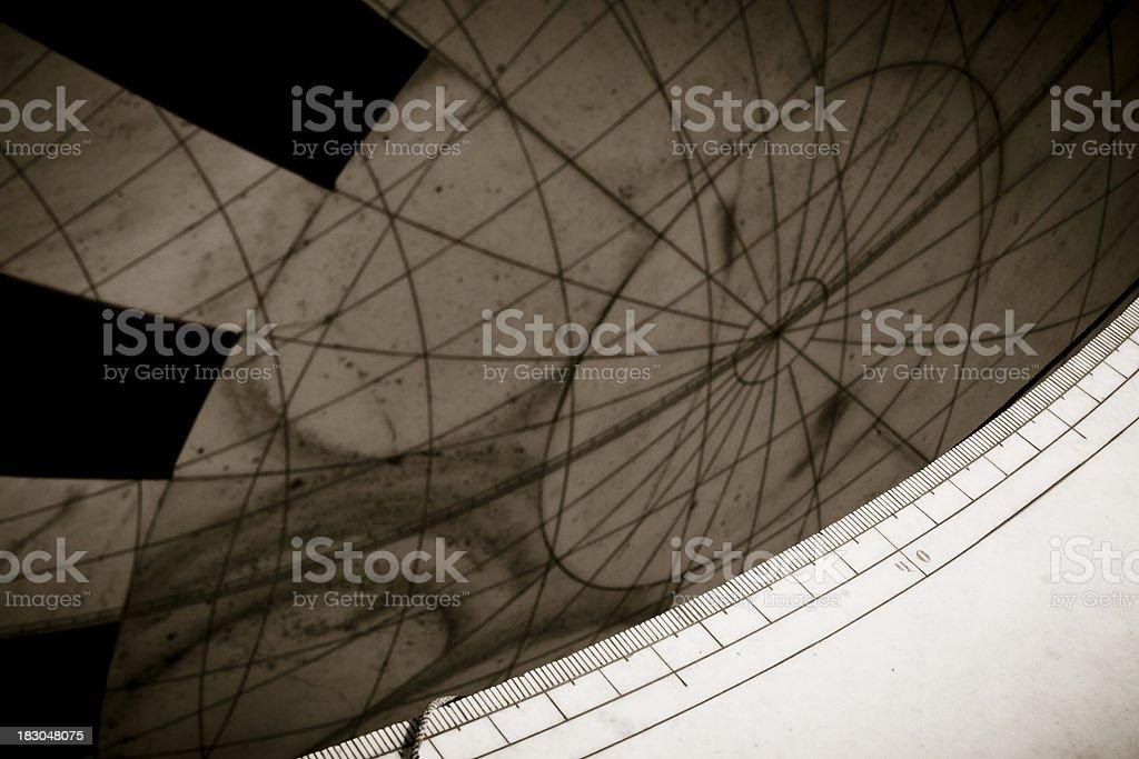 Zodiac Sundial - Rashivalaya Yantra royalty-free stock photo
