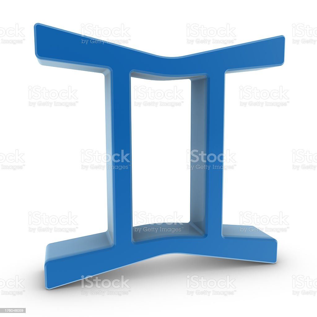 Zodiac Symbol - Gemini stock photo