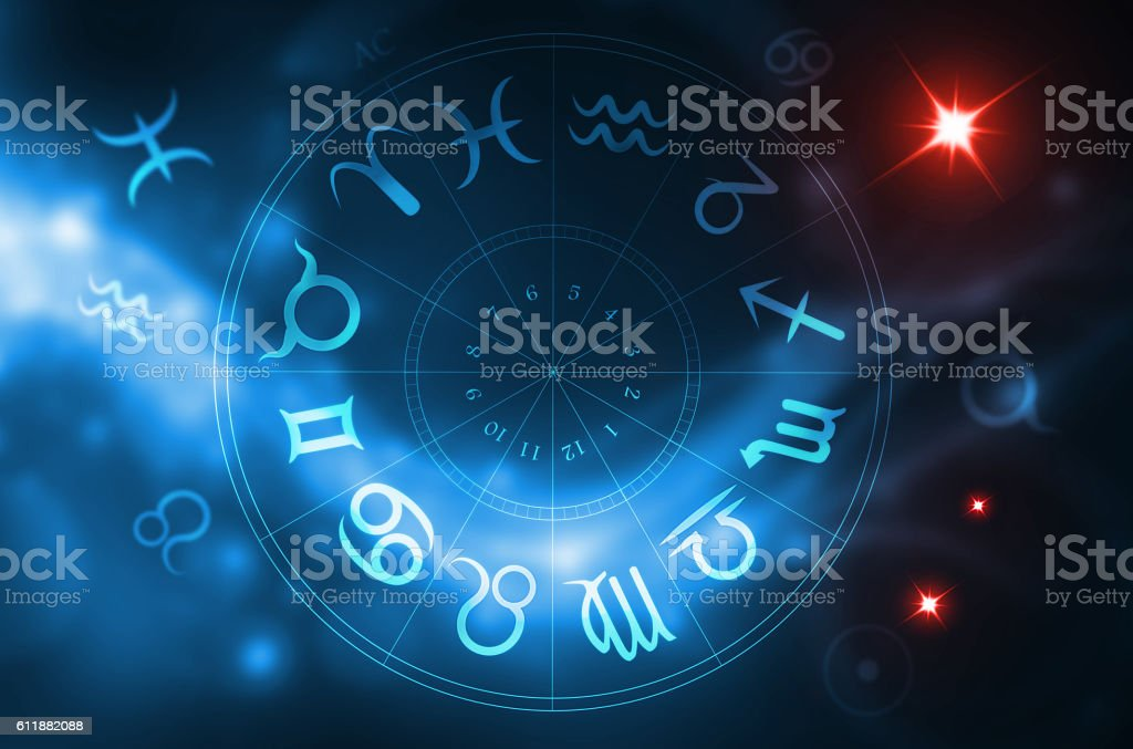 zodiac wheel stock photo