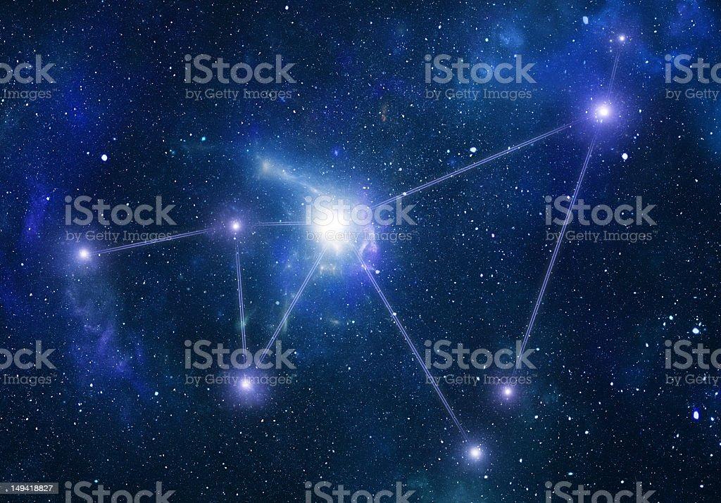 Zodiacal constellations. Capricornus royalty-free stock photo