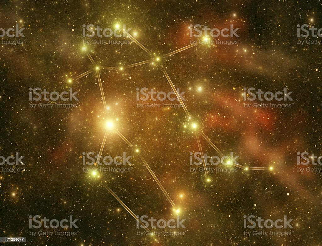 Zodiacal constellations. Gemini stock photo