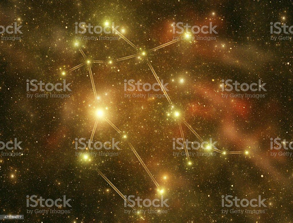 Zodiacal constellations. Gemini stock photo