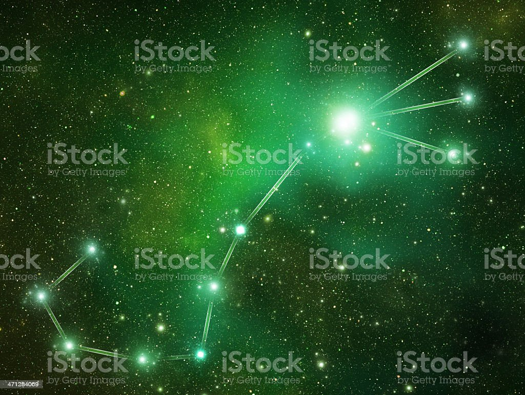Zodiacal constellations. Scorpius royalty-free stock photo