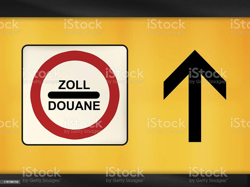 Zoll Douane stock photo